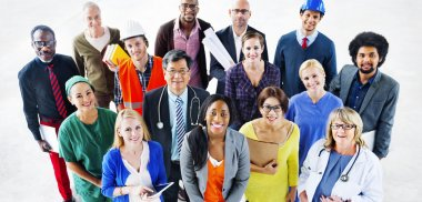 Multi-ethnic People with Various Jobs Concept
