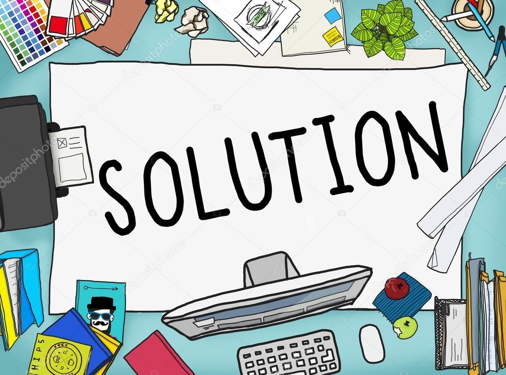 plantilla de gráfico con la solución — Fotos de Stock © Rawpixel ...