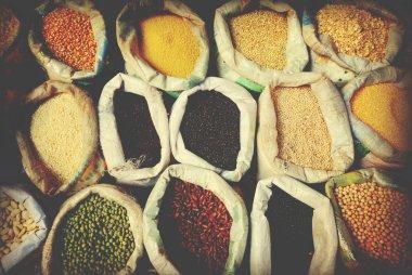 Sacks Of Legumes And Grains