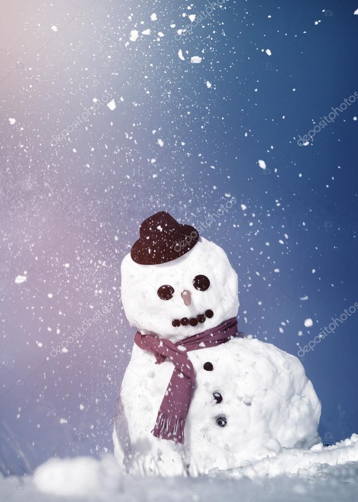 Lustige Weihnachts-Schneemann — Stockfoto © Rawpixel #91306912