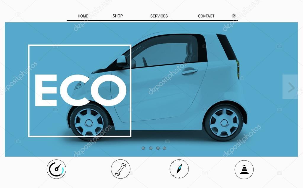 Auto-Website Homepage Layout-Konzept — Stockfoto © Rawpixel #91310024