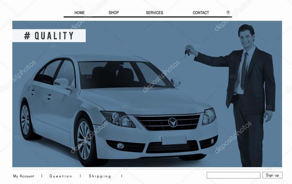 Auto-Website Homepage Layout Werbekonzept — Stockfoto © Rawpixel ...