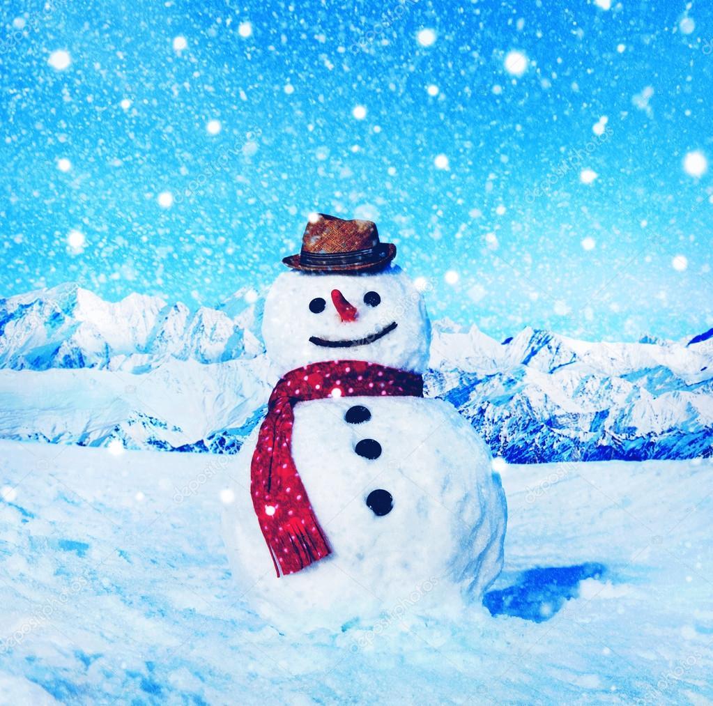 Lustige Weihnachts-Schneemann — Stockfoto © Rawpixel #91316452