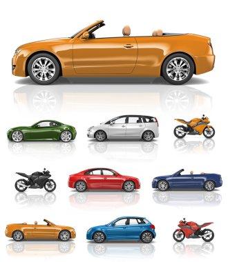 design sports bikes and automobiles