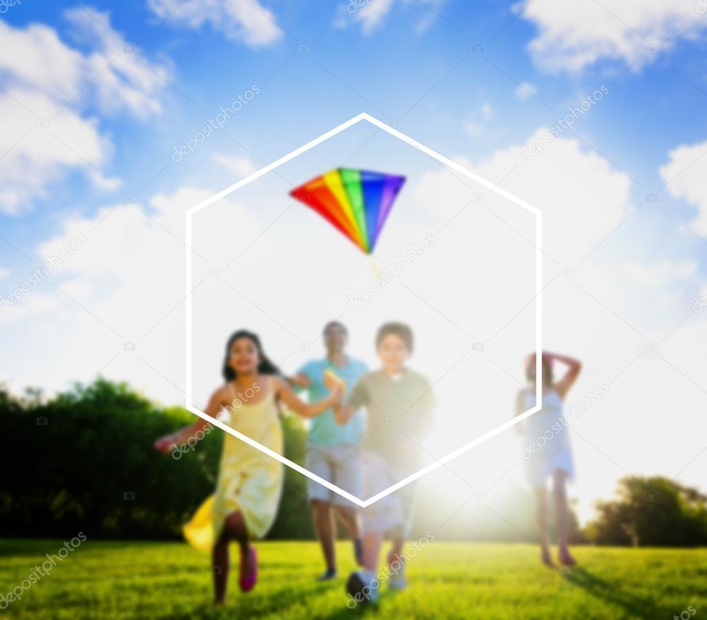 Hexagon Frame Holiday Summer