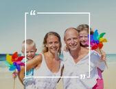 Fényképek családi nyaralás nyári vakáció koncepció
