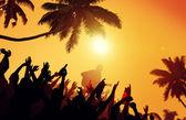 Letní hudební Festival na pláži konceptu