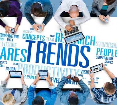 Global Shares Trends Ideas Concept