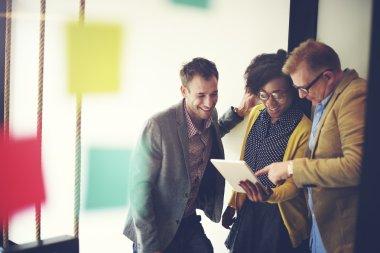Business team analysis financial data