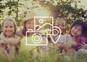 Fotografie Fotoaparát Album obrázky místo umístění koncept