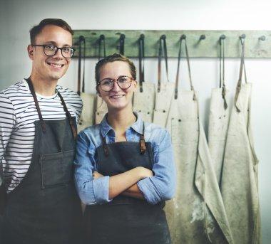 Couple Partner Craftsman Indoor Concept