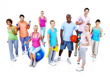 Healthy People in Fitness Training