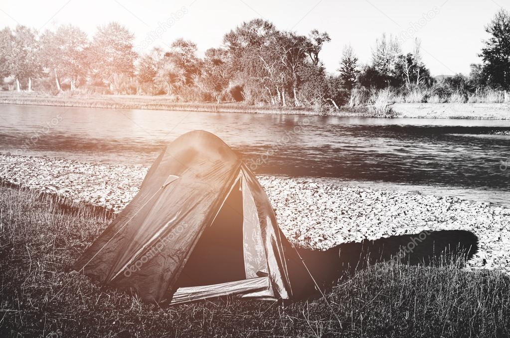 Camping by Beautiful River