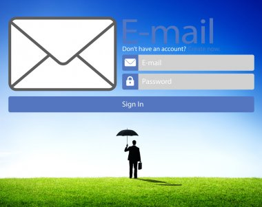 Businessman and Email Online Messaging
