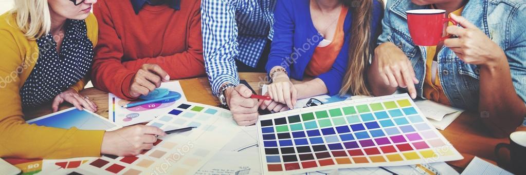Designers Working and Brainstorming in Meeting