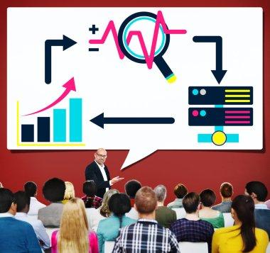 People at seminar and Big Data Concept