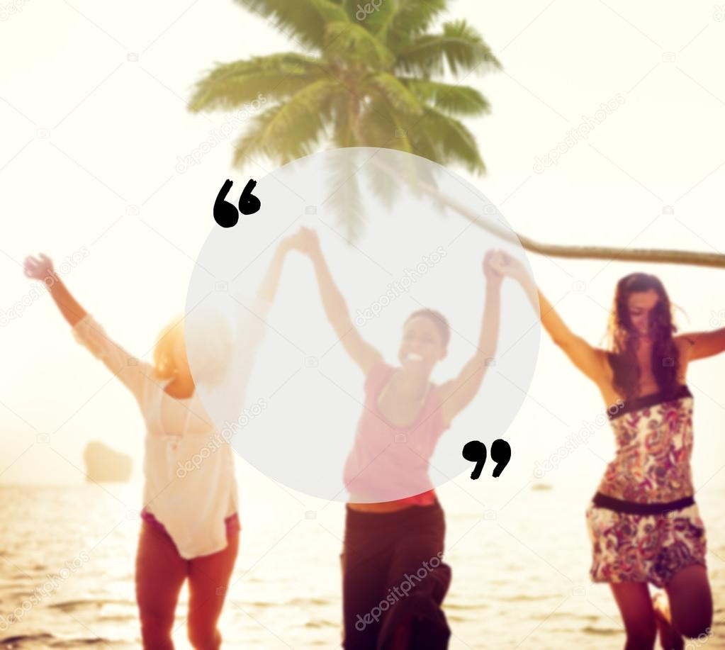 Quotation Mark Summer Concept