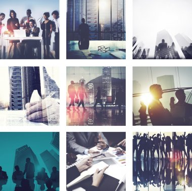 Collage with Business People