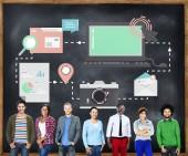Podnikatelé a technologie koncepce
