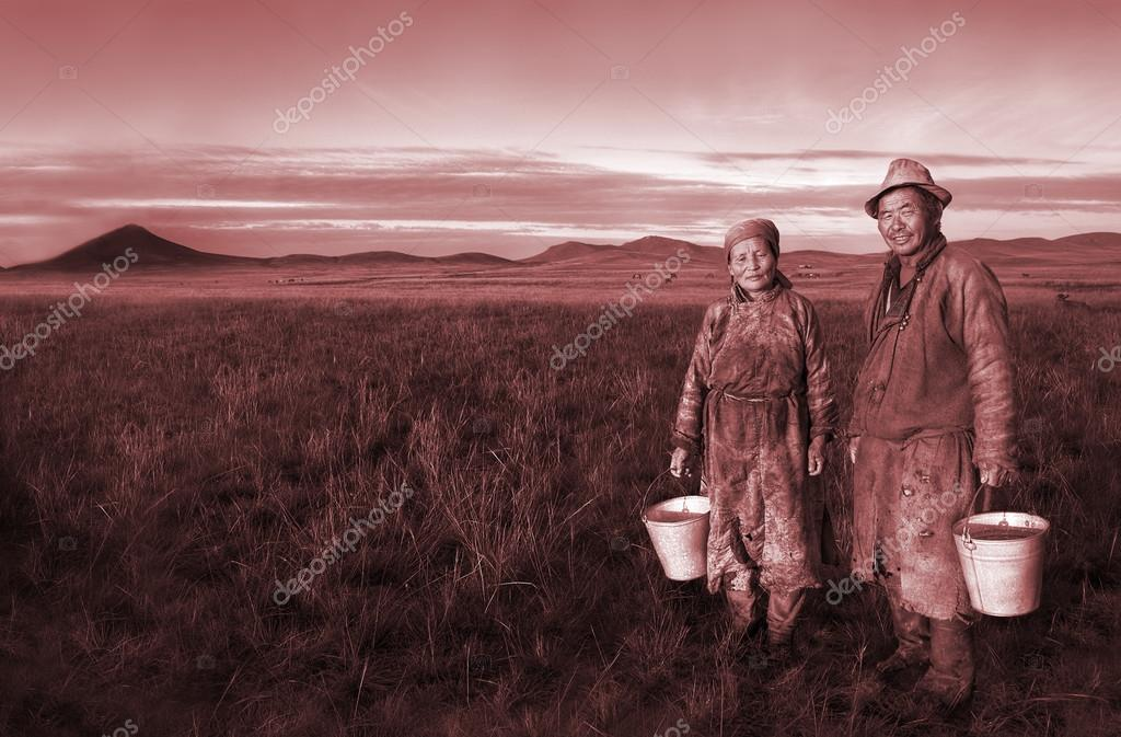 Farmers Holding pails