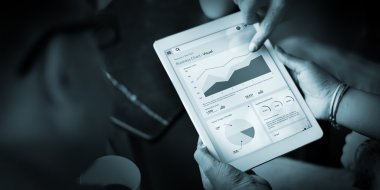 Business Chart in tablet