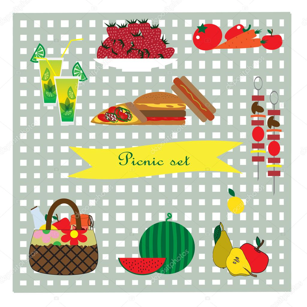 Picnic set illustration