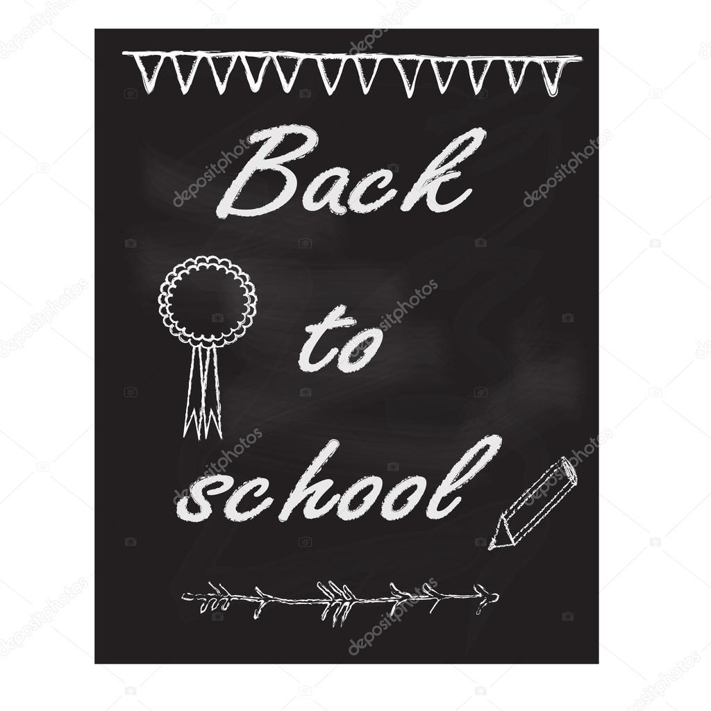 Back To School Chalkboard Design Template Stock Vector