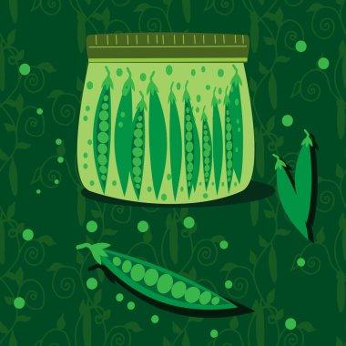 Homemade green peas
