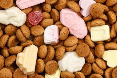 Background pepernoten and sweets Sinterklaas