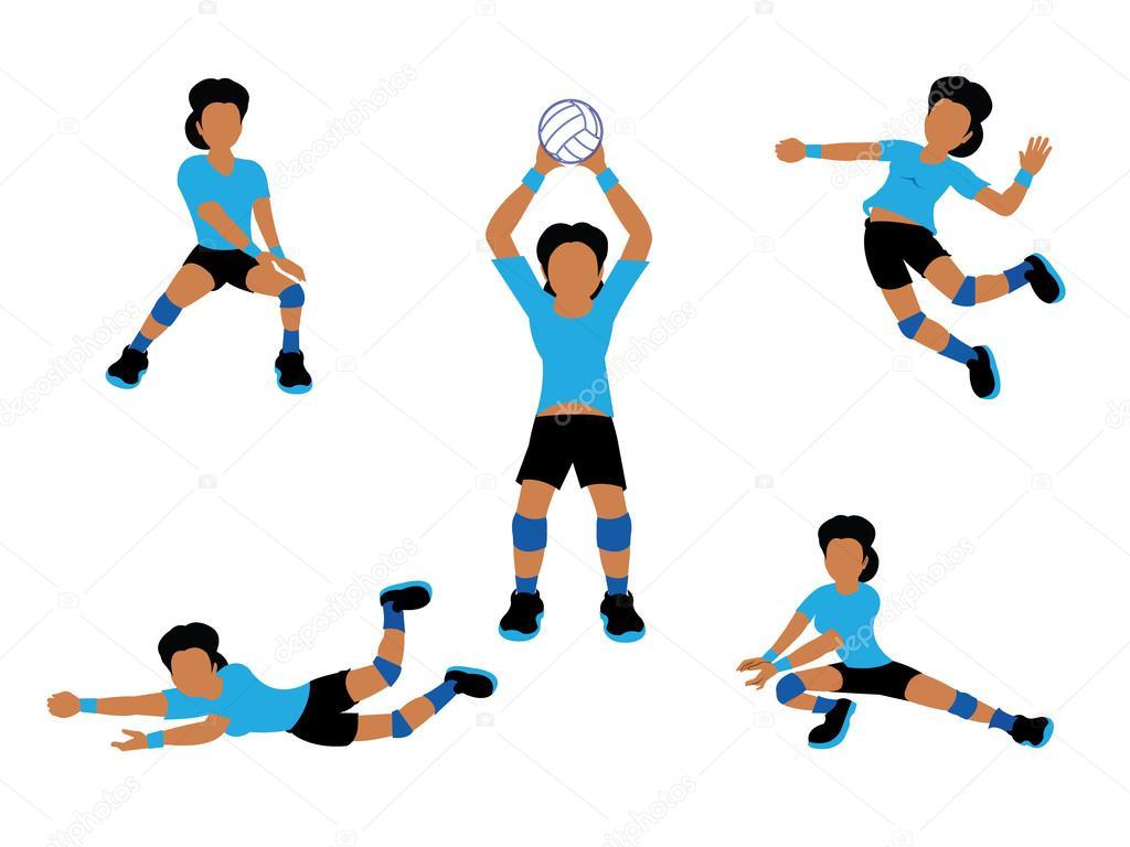 Conjunto De Jugador De Voleibol Mujer