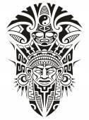 Ősi törzsi maszk-vektor-illusztráció