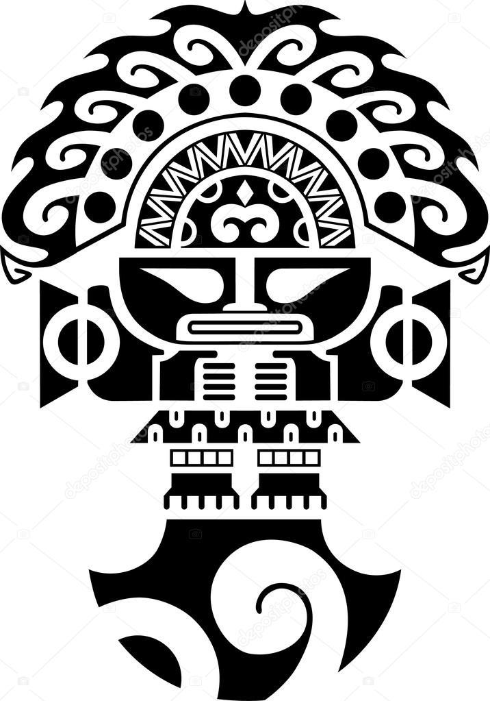 Tribal Ceremonile Mes Inca Cultuur Illustratie Stockvector