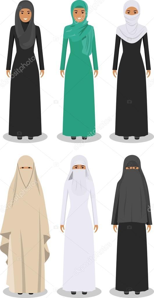 Kleidung einer muslimischen frau