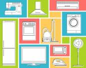 Set von Haushaltsgeräten