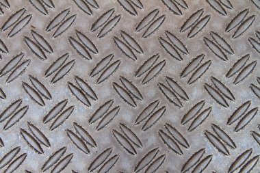 Flooring made out of metal with corrugation