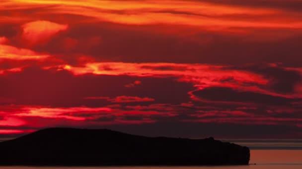 Časová prodleva na východ slunce nad mořem