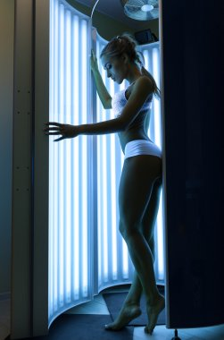 Woman in the solarium