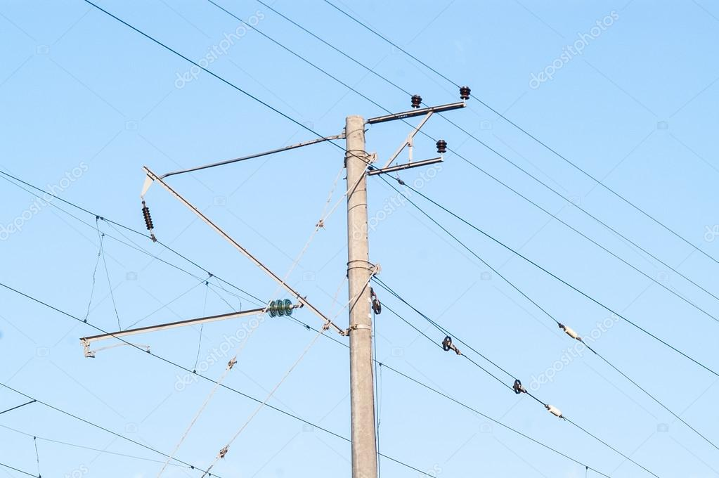 pole line high-voltage wire — Stock Photo © antonius_studio #102235828