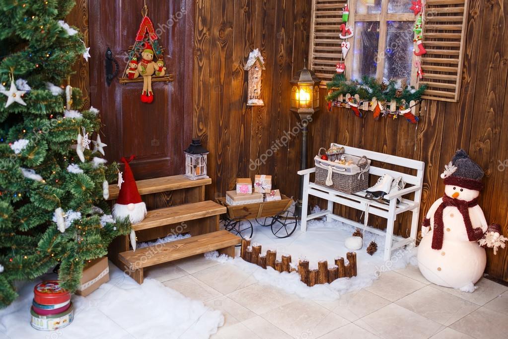 Casa decorada e iluminada para navidad nochevieja fotos - Casas decoradas en navidad ...