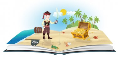 Book about pirates and treasure