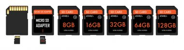 SD And Micro sd card with adapter