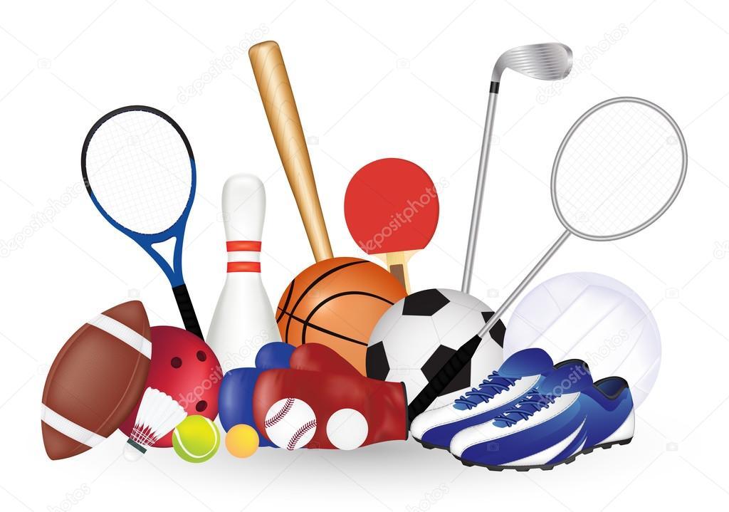 afbdf5322729dc Набір спортивний об'єкт футбол м'яч волейбол баскетбол бейсбол ...