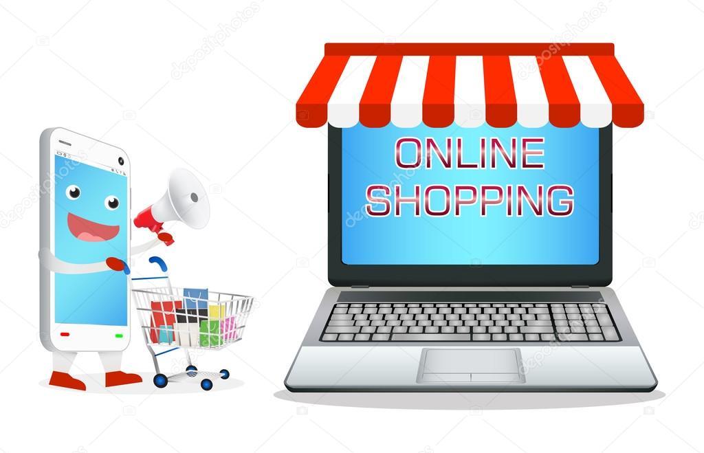 Tiendas De Ordenadores Online.Dibujos Animados Smartphone Comprar En Tienda Online De
