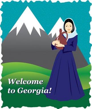 Welcoming Georgian card
