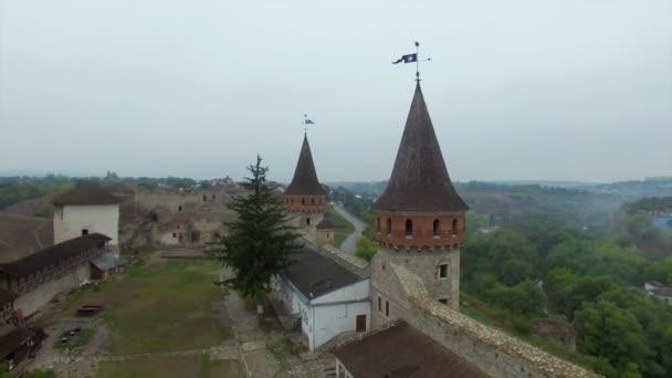 Anténa: Starý hrad v Kamenetz-Podolskiy, Ukrajina.