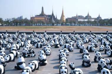 Pandas World Tour by WWF at Giant Swing, Bangkok.