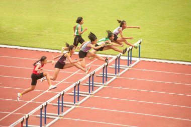 100 m. Hurdles in Thailand Open Athletic Championship 2013.
