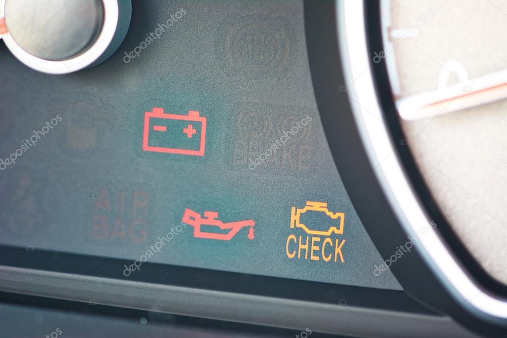 Storing Of Controleren Motor Auto Symbolen Dashboard Symbool