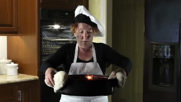 Kitchen Disasters, Woman with Apron and Chef Hat