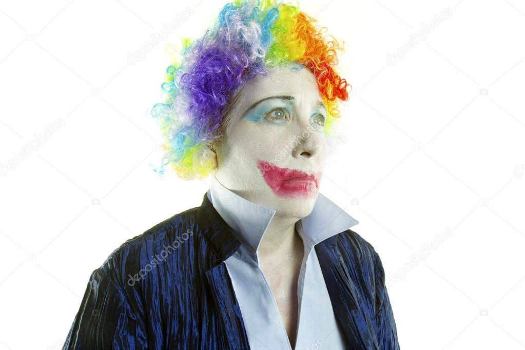 Sad Joker Face Sad Clown Face Stock Photo